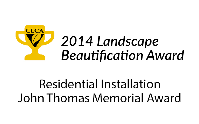 CLCA 2014 Landscape Beautification Award Small Residential Installation John Thomas Memorial Award