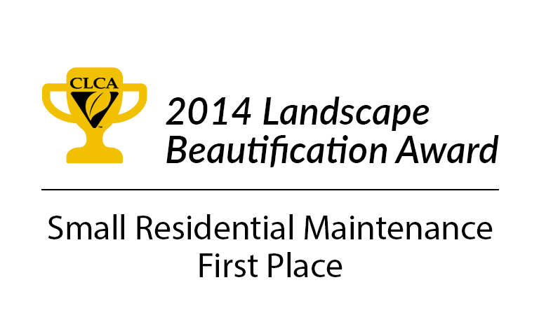 CLCA 2014 Landscape Beautification Award Small Residential Maintenance First Place
